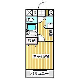 愛知県名古屋市中川区尾頭橋2丁目の賃貸アパートの間取り