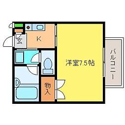 兵庫県神戸市東灘区岡本7丁目の賃貸アパートの間取り