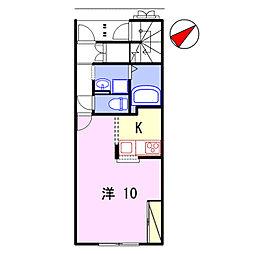 リアン飾東B[105号室]の間取り