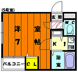 スカイライフ鎧坂[3階]の間取り