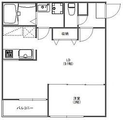 FUJISTA所沢VII[1階]の間取り