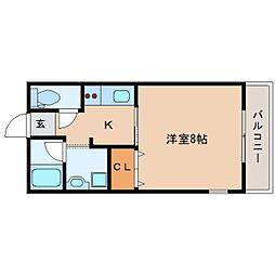 奈良県香芝市旭ケ丘4丁目の賃貸アパートの間取り