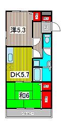 木曽呂ハイツA[2階]の間取り
