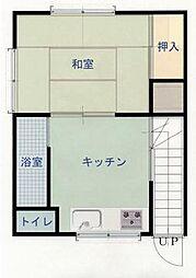 広島県呉市本町の賃貸アパートの間取り