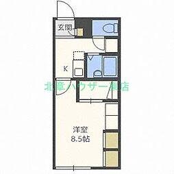 北海道札幌市東区伏古十三条3丁目の賃貸アパートの間取り