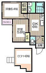 東京都板橋区高島平2丁目の賃貸アパートの間取り