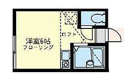 ユナイト六浦 フェルメール[2階]の間取り