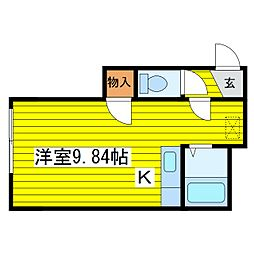 北海道札幌市東区北十六条東5丁目の賃貸アパートの間取り