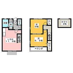 [テラスハウス] 愛知県津島市兼平町1丁目 の賃貸【/】の間取り