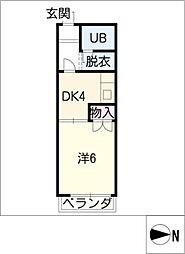 メゾン小森[2階]の間取り