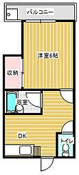 パークサイドふじ[2階]の間取り