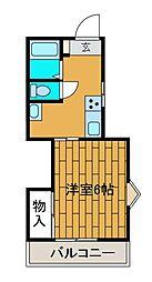 グレイシャス平和台[1階]の間取り