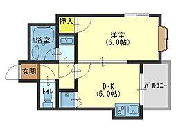イデアールスパジオ[2階]の間取り