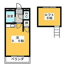 コーポイーストA棟[1階]の間取り