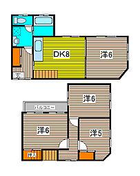 [一戸建] 埼玉県さいたま市桜区栄和4丁目 の賃貸【/】の間取り