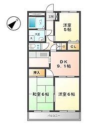 ロイヤルガーデン[2階]の間取り