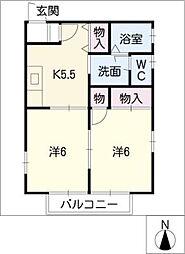サンライス三角[1階]の間取り