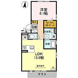 レフィナードKHY 1[1階]の間取り