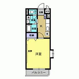 岡山県総社市中央1の賃貸マンションの間取り