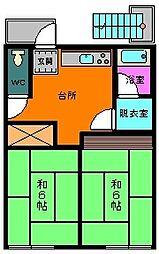 輿水アパート[2階]の間取り