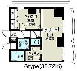 ノルデンタワー新大阪アネックス[18階]の間取り