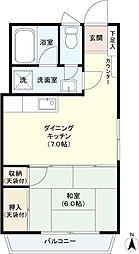 東京都渋谷区西原1丁目の賃貸マンションの間取り