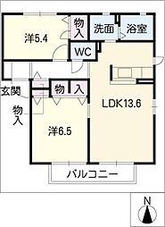 フローラ紺屋田 B棟[2階]の間取り