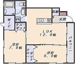 グレースヒルズA棟[1階]の間取り
