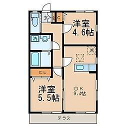 サクレ・クール桜ヶ丘[1階]の間取り