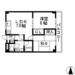 エルメゾン小阪[505号室号室]の間取り
