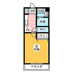 ブライベント[4階]の間取り