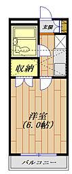 ジュネパレス平塚第11[102号室号室]の間取り