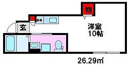 バローニ B[1階]の間取り