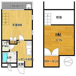 栃木県日光市今市の賃貸アパートの間取り