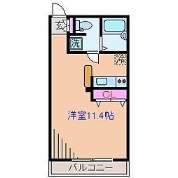 神奈川県横浜市鶴見区駒岡3丁目の賃貸アパートの間取り
