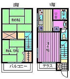 [テラスハウス] 埼玉県さいたま市北区宮原町4丁目 の賃貸【埼玉県 / さいたま市北区】の間取り