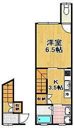 [テラスハウス] 大阪府大阪市大正区三軒家東6丁目 の賃貸【大阪府 / 大阪市大正区】の間取り