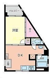 TDレジデンス[4階]の間取り