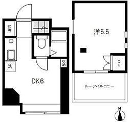 東京都港区白金5丁目の賃貸アパートの間取り