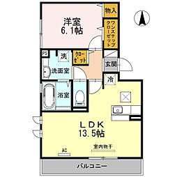 大阪府大阪市平野区平野南2丁目の賃貸アパートの間取り