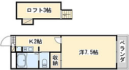 レオパレスWING[2階]の間取り