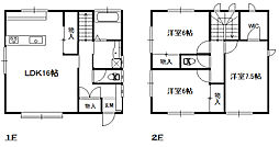 [一戸建] 栃木県足利市今福町 の賃貸【/】の間取り