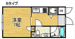 パラドール北加賀屋[2階]の間取り
