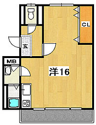 海野ビル[4階]の間取り
