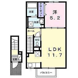 ロックフィールドIV[2階]の間取り