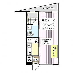 神奈川県横浜市都筑区川向町の賃貸マンションの間取り