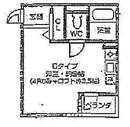 レオン天神橋[4C号室]の間取り