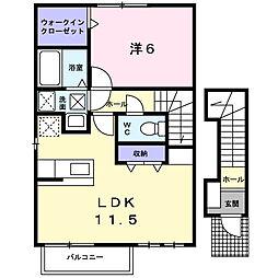 デフィ平井[2階]の間取り