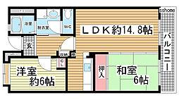 HAT神戸・灘の浜10号棟[415号室]の間取り