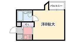 六番館[205号室]の間取り